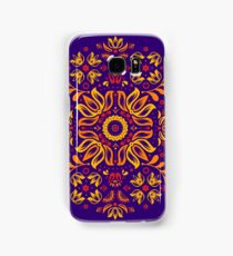 Fiery Floral Folk Pattern Samsung Galaxy Case/Skin