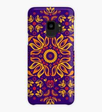 Fiery Floral Folk Pattern Case/Skin for Samsung Galaxy