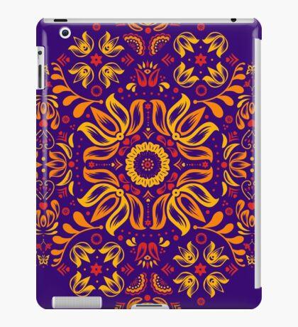 Fiery Floral Folk Pattern iPad Case/Skin