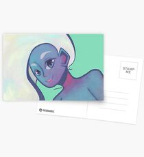 Space Woman Postcards