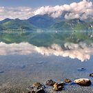Lake, Mountains and Clouds by Daidalos