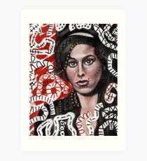 Amy in Red Art Print