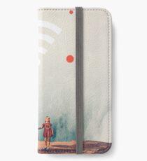 Drahtlos mit der Ewigkeit verbunden iPhone Flip-Case/Hülle/Klebefolie