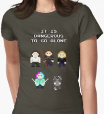 Team Dresden: It is dangerous to go alone Women's Fitted T-Shirt
