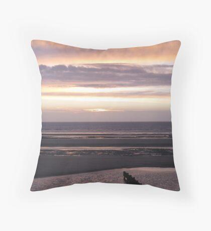 Fylde Coast Sunset Throw Pillow