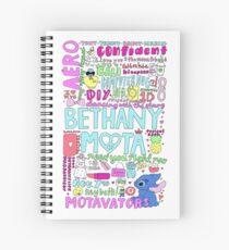 Bethany Mota Collage Spiralblock