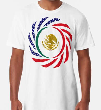 Mexican American Multinational Patriot Flag Series Long T-Shirt