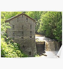 Lanterman's Mill in Spring Poster