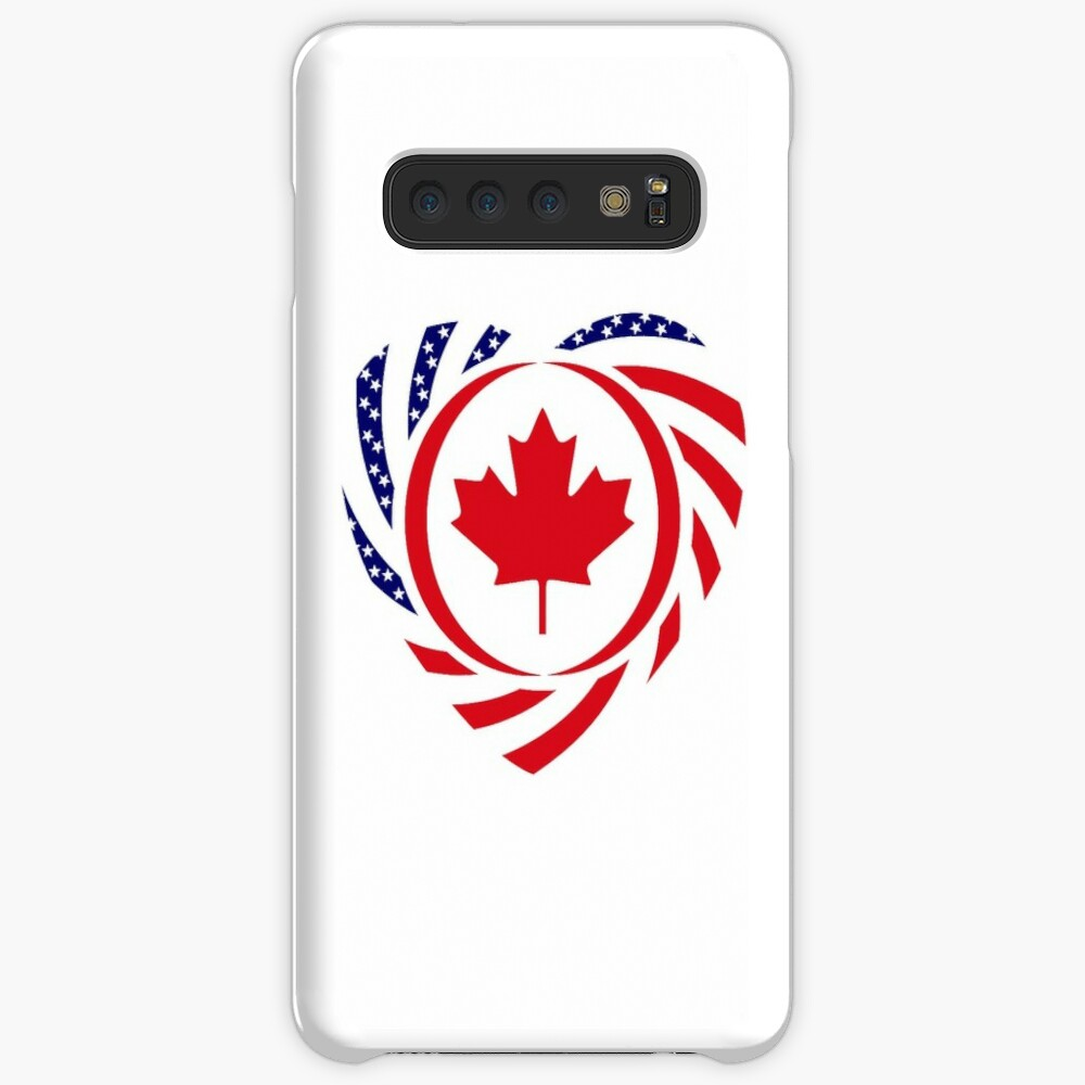 Canadian American Multinational Patriot Flag Series (Heart) Case & Skin for Samsung Galaxy