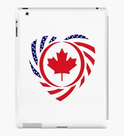 Canadian American Multinational Patriot Flag Series (Heart) iPad Case/Skin