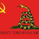 Leftist Libertarian Gadsden Flag by dru1138