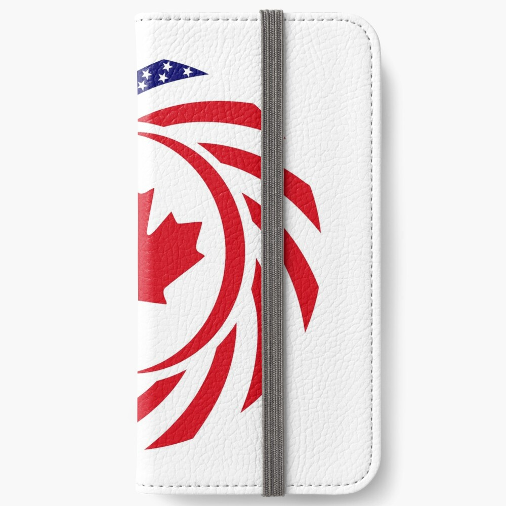 Canadian American Multinational Patriot Flag Series iPhone Wallet
