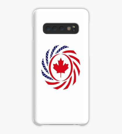 Canadian American Multinational Patriot Flag Series Case/Skin for Samsung Galaxy