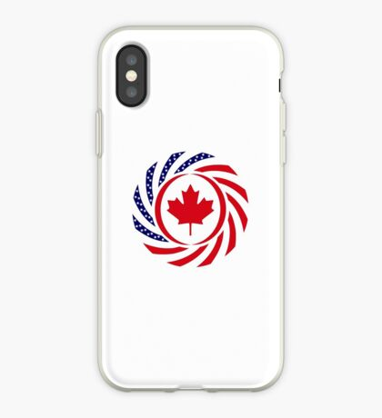 Canadian American Multinational Patriot Flag Series iPhone Case