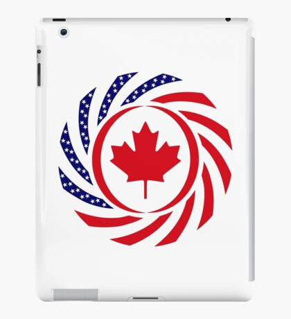 Canadian American Multinational Patriot Flag Series iPad Case/Skin