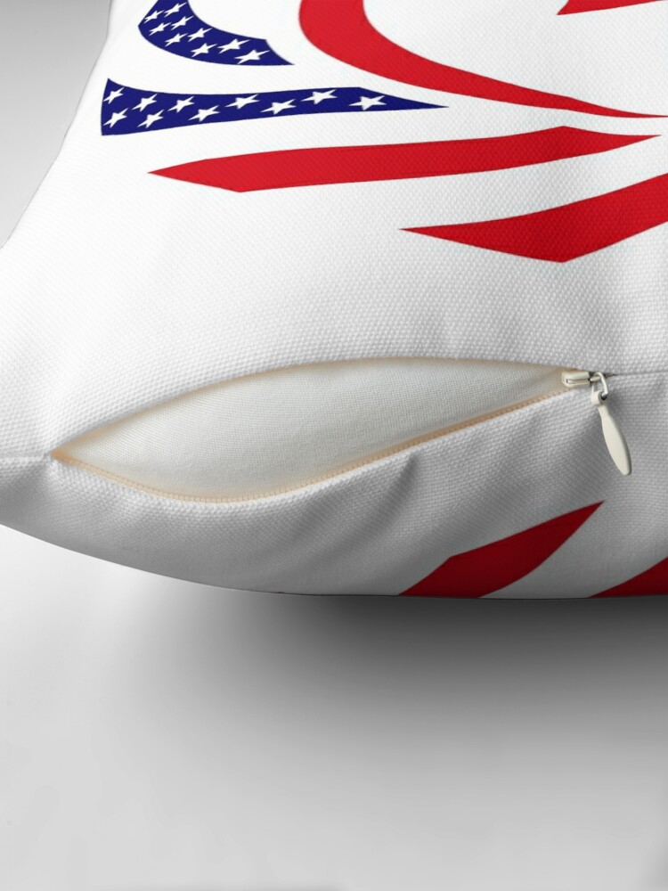Alternate view of Canadian American Multinational Patriot Flag Series Throw Pillow