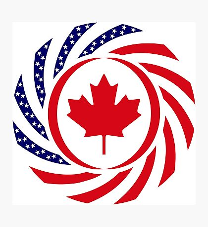 Canadian American Multinational Patriot Flag Series Photographic Print