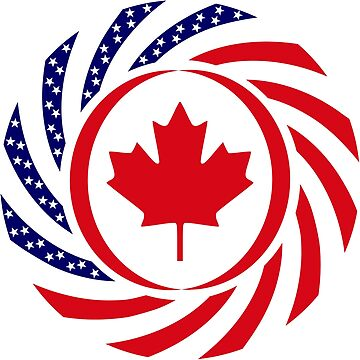 Canadian American Multinational Patriot Flag Series 1.0 by carbonfibreme