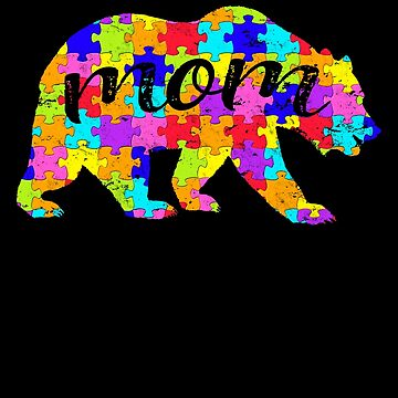Mom Bear Matching Puzzle Family Autism Awareness Month Autism Awareness matching cute puzzle bear design for family light it up blue support autistic asperger by bulletfast