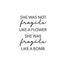 Sie war nicht zerbrechlich wie eine Blume von Quotation  Park