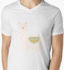 Llamas and Cacti V-Neck T-Shirt