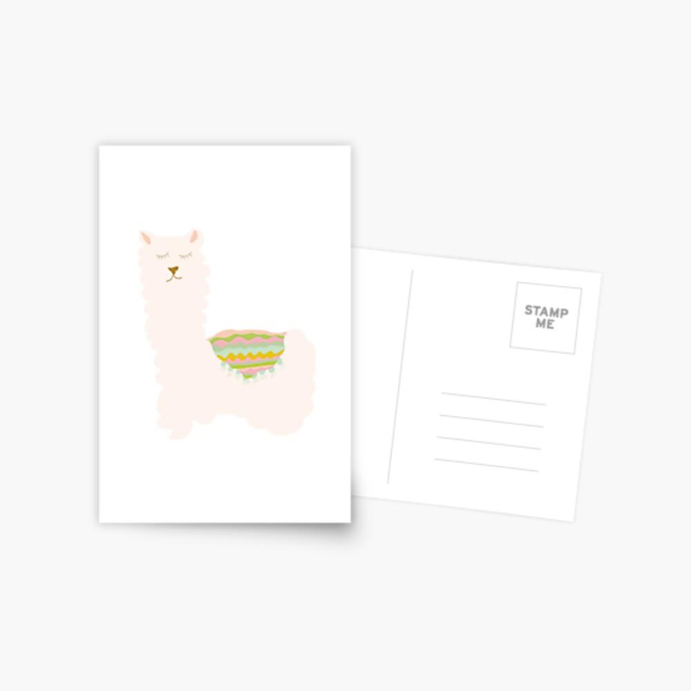 Llamas and Cacti Postcard