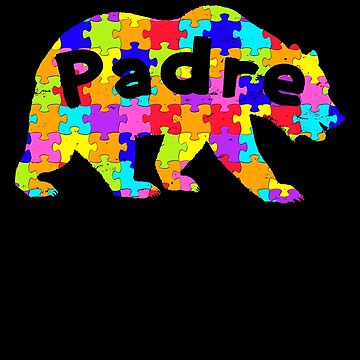 Padre Bear Latino Autism Awareness Spanish Mexican Autism Awareness matching cute puzzle bear design for family light it up blue support autistic asperger by bulletfast