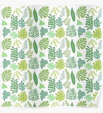 Tropical Leaves Poster