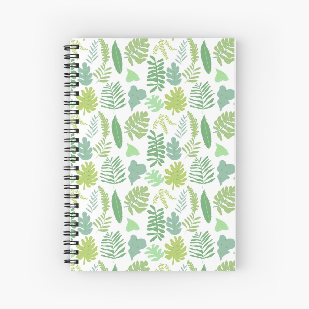 Tropical Leaves Spiral Notebook