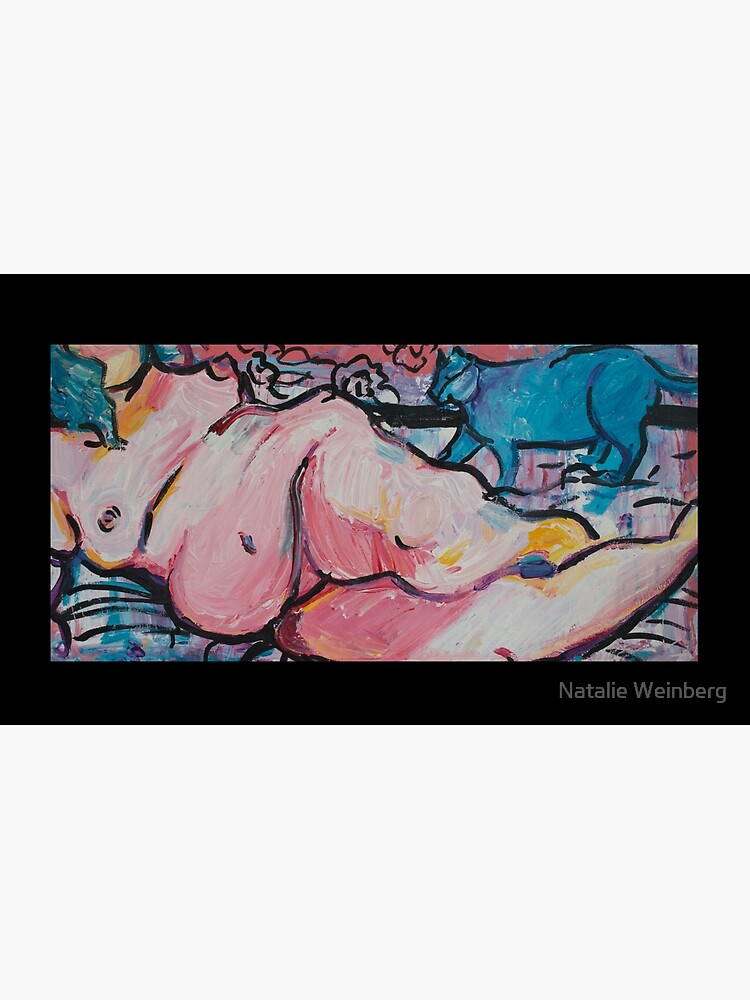 Reclining Nude with Storm by natalieweinberg