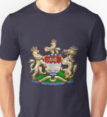 Hong Kong - 1959-1997 Coat of Arms over Flag  Unisex T-Shirt