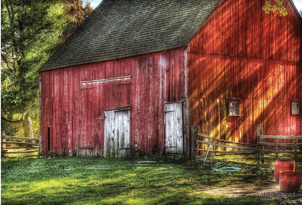 The old red barn by Michael Savad