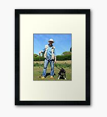 """""""One Man and his Dog"""" Framed Print"""