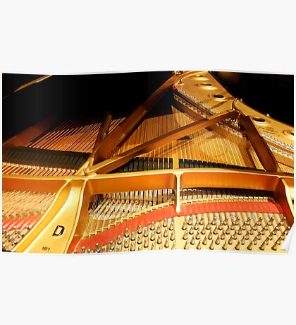 Inside a Steinway Concert Grand  Poster