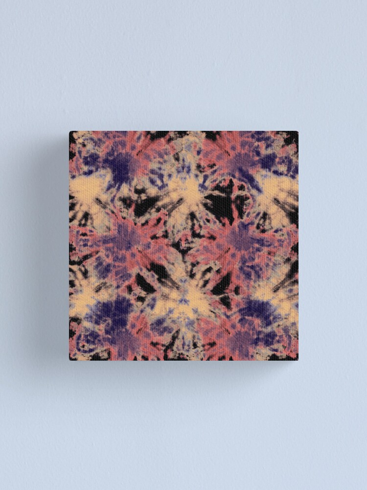 Alternate view of Tie-Dye Linen Bloom Canvas Print