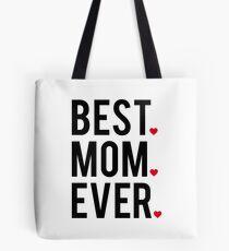 Bolsa de tela La mejor mamá de todos, el arte de la palabra, el diseño de texto con corazones rojos