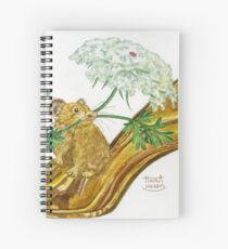 Pika-Shoe: Picky Pika with Plant Parasol & Posh Pad Spiral Notebook