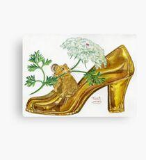 Pika-Shoe: Picky Pika with Plant Parasol & Posh Pad Canvas Print