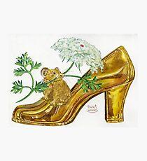 Pika-Shoe: Picky Pika with Plant Parasol & Posh Pad Photographic Print
