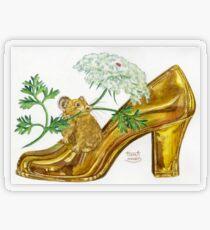 Pika-Shoe: Picky Pika with Plant Parasol & Posh Pad Transparent Sticker