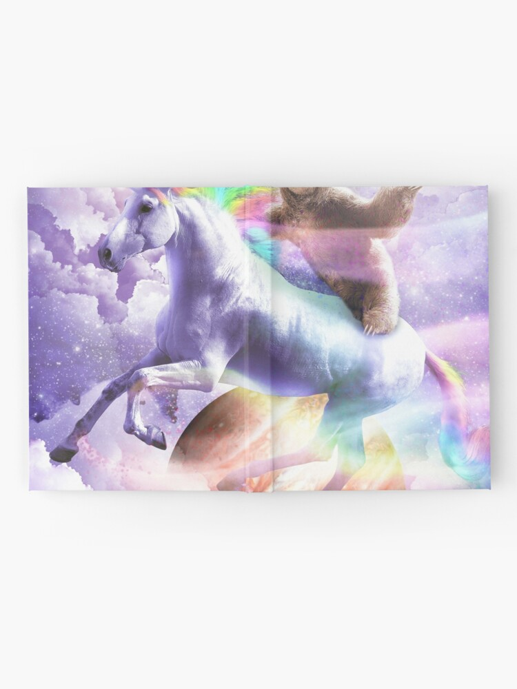 Alternate view of Epic Space Sloth Riding On Unicorn Hardcover Journal