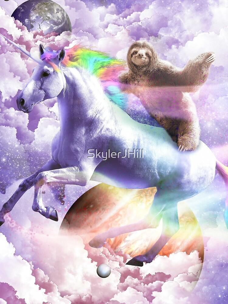 Epic Space Sloth Riding On Unicorn by SkylerJHill