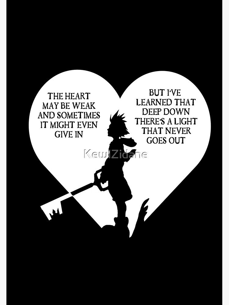 Kingdom hearts sora quote | Spiral Notebook