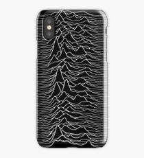 Music band waves - Black&White iPhone Case