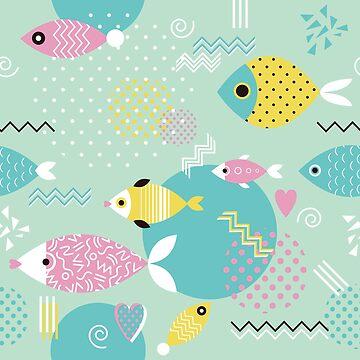 Memphis-Fische von SandiTyche
