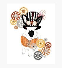 Steampunk'd Bailey Photographic Print