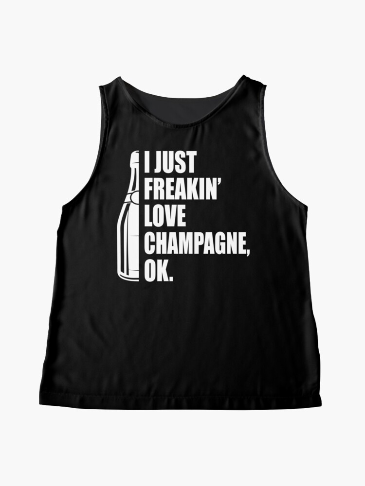 Alternate view of I Just Freakin' Love Champagne Quote Sleeveless Top