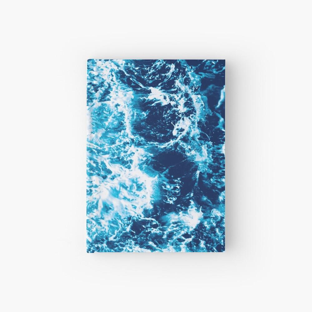 Ola de mar turquesa - marmoleado eléctrico Cuaderno de tapa dura