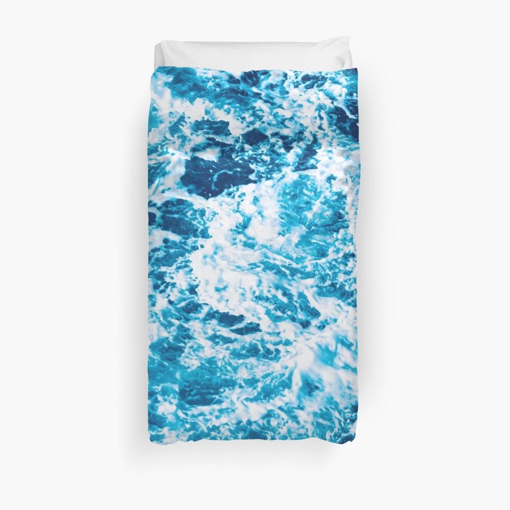 Ola de mar turquesa - marmoleado eléctrico Funda nórdica