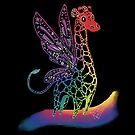 Giraffe Alebrije by renc-art